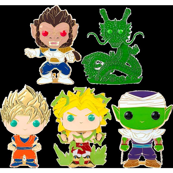"Dragon Ball Z - Series 01 4"" Pop! Enamel Pin Assortment (Set of 5) Including Chase Shenron"