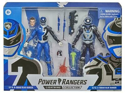 Hasbro Power Rangers Lightning Collection S.P.D. B-Squad VS A-Squad Blue Ranger Two-Pack
