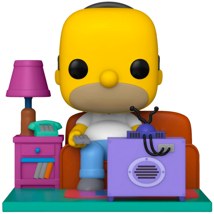 ​The Simpsons - Homer watching TV Deluxe Pop! Vinyl Figure