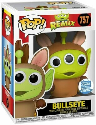 Bullseye Alien Remix Pop! Vinyl Figure Funko Shop Exclusive (funko Stickered)