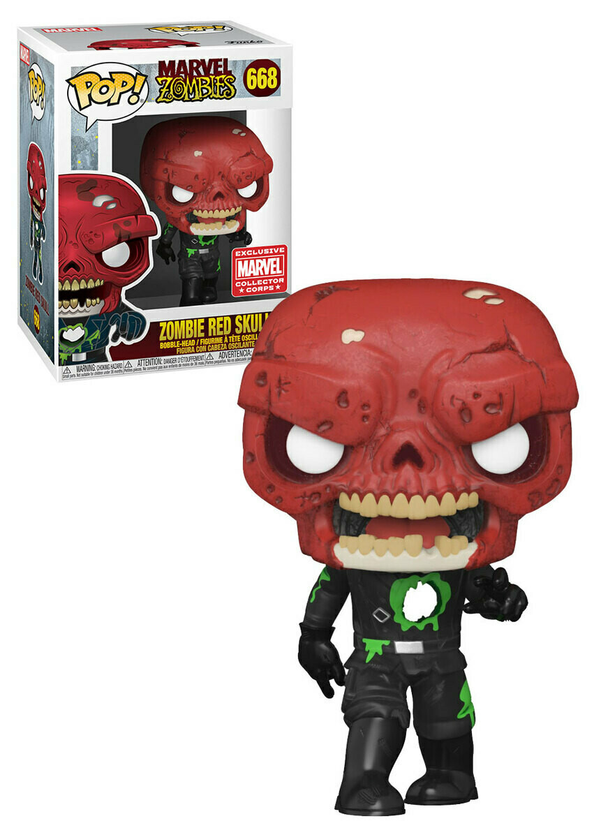 Marvel Collector Corp Box - Red Skull Zombie Pop! Vinyl Figure
