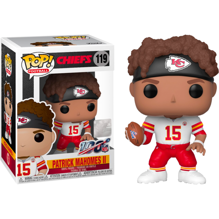 NFL Football - Patrick Mahomes II Kansas City Chiefs White Away Jersey Pop! Vinyl Figure