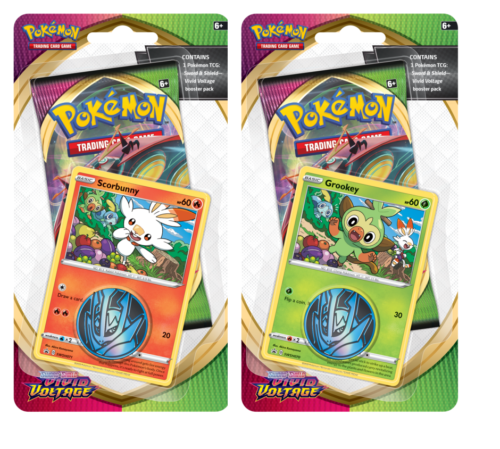 POKÉMON TCG Sword and Shield- Vivid Voltage Checklane Blister Bundle of 2