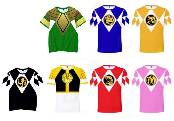 Adult Mighty Morphin Power Rangers T-shirts