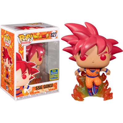 Dragon Ball Z - Super Saiyan God Goku with Flames Pop! Vinyl Figure (2020 Summer Convention Exclusive)