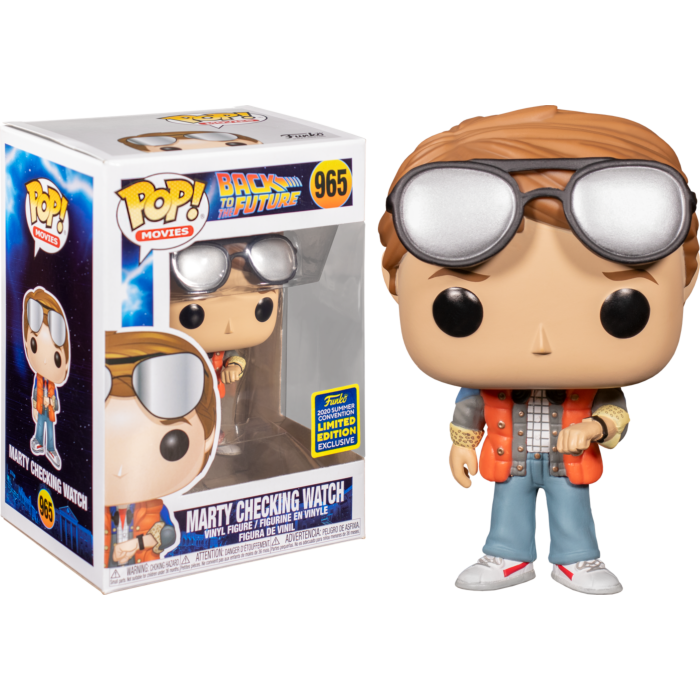 Back to the Future - Marty checking watch SDCC 2020 Pop! Vinyl Figure