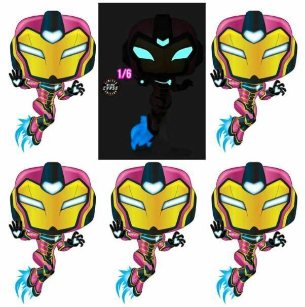 Iron Man - Ironheart Chase Pop! Vinyl Figure bundle of 6 (set of 6)