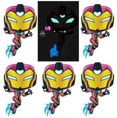 Iron Man - Ironheart Chase Pop! Vinyl Figure bundle of 6 (set of 6)​