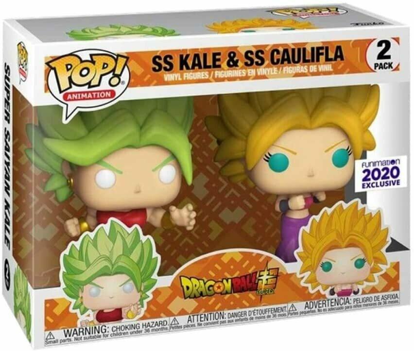 Dragonball - Super Saiyan Kale & Super Saiyan Caulifla 2020 Funimation Exclusive Dragon Ball Z Funko Pop! 2-Pack Pop! Vinyl Figure