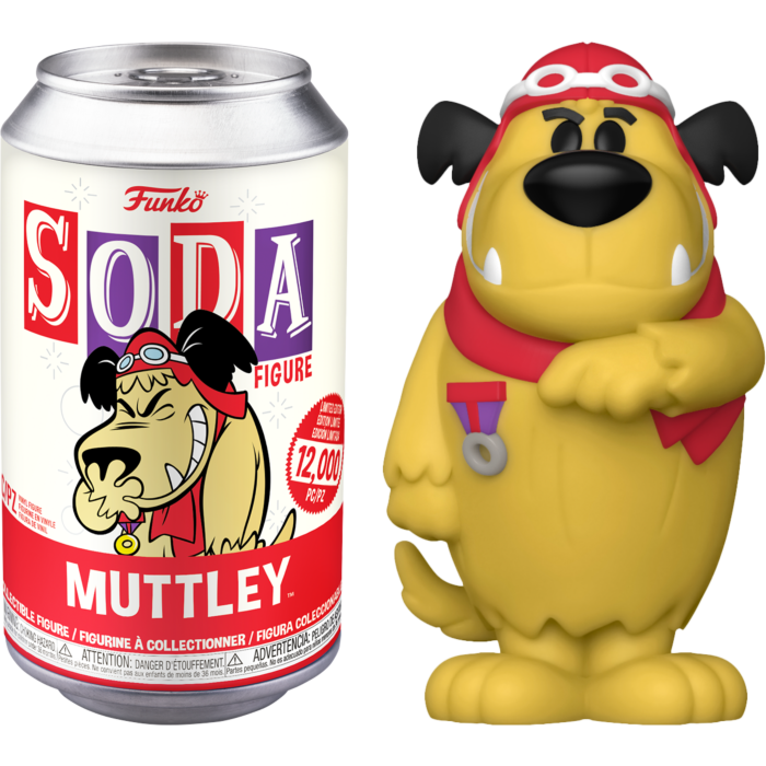 Wacky Races - Muttley Vinyl SODA Figure in Collector Can