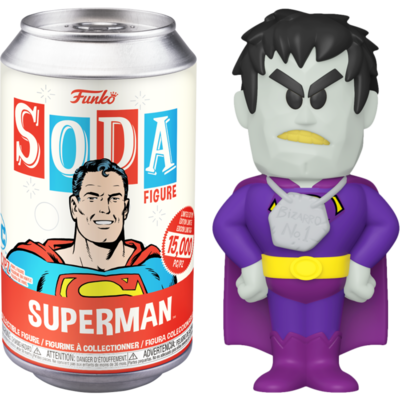 Superman - Superman Vinyl SODA Figure in Collector Can Sealed case of 6