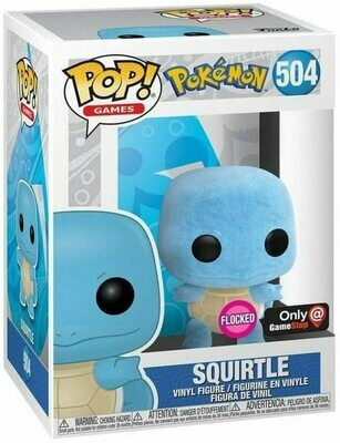 Pokemon - Squirtle (Flocked) Pop! Vinyl Figure (Gamestop Sticker)