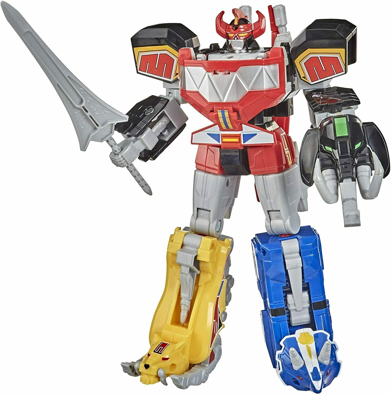 Hasbro 2020 MMPR Power Rangers Dino Megazord Complete Set of All Zords (3 separate packaging)