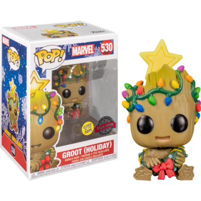 Guardians of the Galaxy - Holiday Groot with Christmas Lights Glow in the Dark Pop! Vinyl Figure