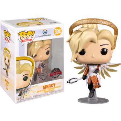 Overwatch - Mercy Blizzard 30th Anniversary Diamond Glitter Pop! Vinyl Figure