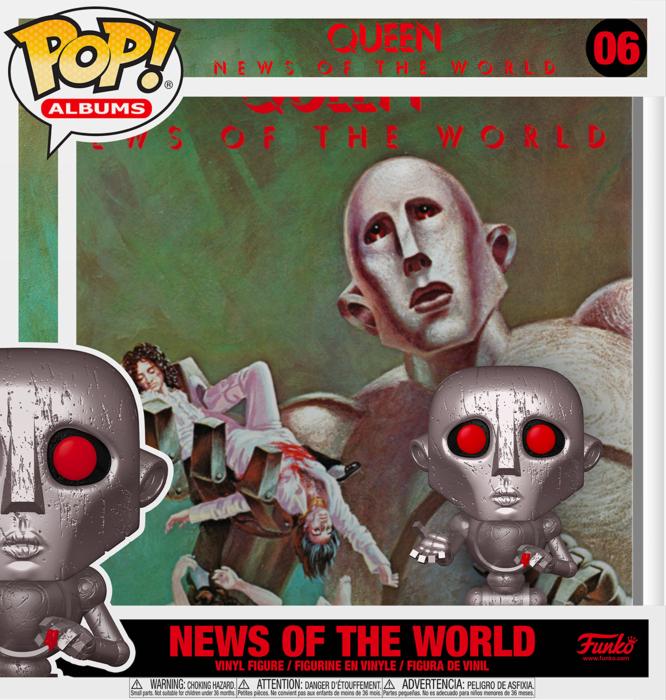 Queen - News of the World Metallic Pop! Albums Vinyl Figure