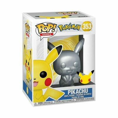Pre-Order: Pokemon - Pikachu Silver Metallic Pop! Vinyl Figure
