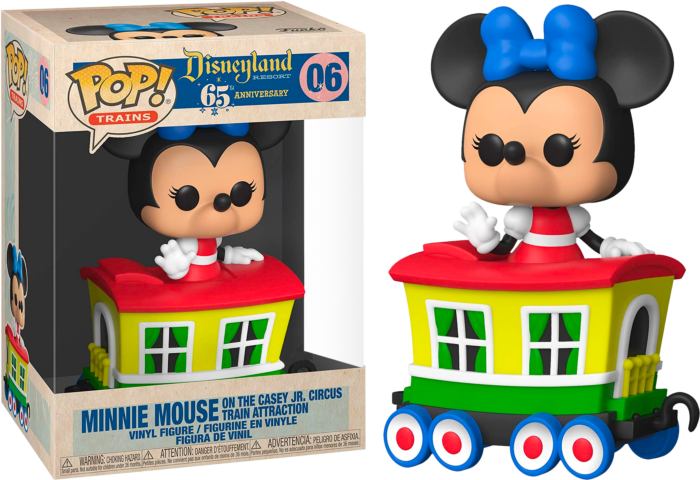 Disneyland: 65th Anniversary - Minnie Mouse on the Casey Jr. Circus Train Attraction Pop! Vinyl Figure