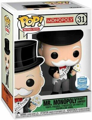 Pre-Order: Mr Monopoly Beauty Contest second Prize Funko Exclusive Pop! Vinyl Figure