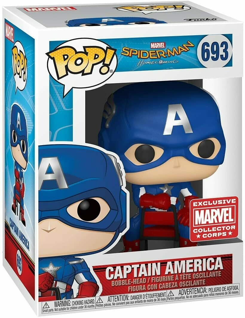 Marvel Collector Corps Exclusive End Credits Captain America Pop! Vinyl Figure