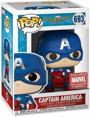 Marvel Collector Corps Exclusive End Credits Captain America Pop! Vinyl Figure