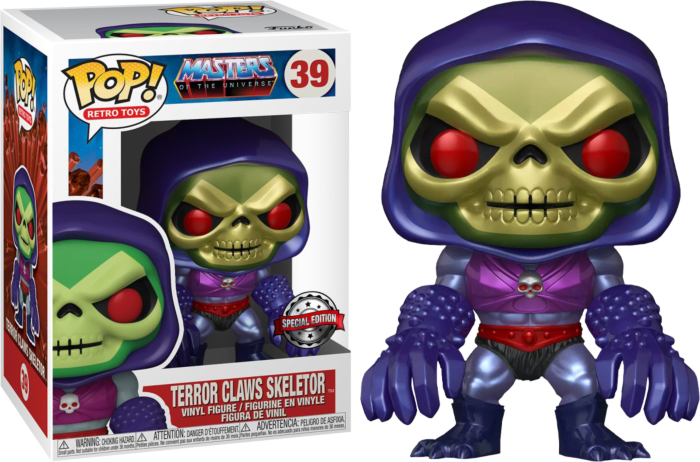 Masters of the Universe - Skeletor with Terror Claws Metallic Pop! Vinyl Figure