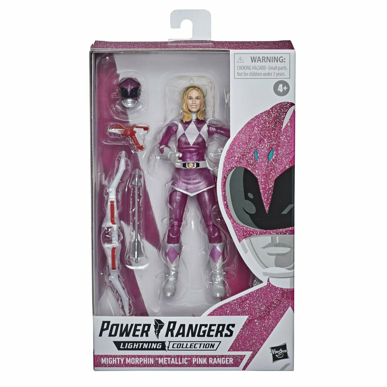 Power Rangers Lightning Collection Mighty Morphin Metallic Armor Pink Ranger Figure (Hasbro Pulse Exclusive)