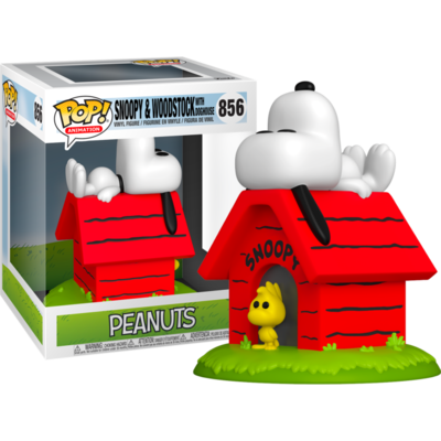 Peanuts - Snoopy & Woodstock with Doghouse Deluxe Pop! Vinyl Figure