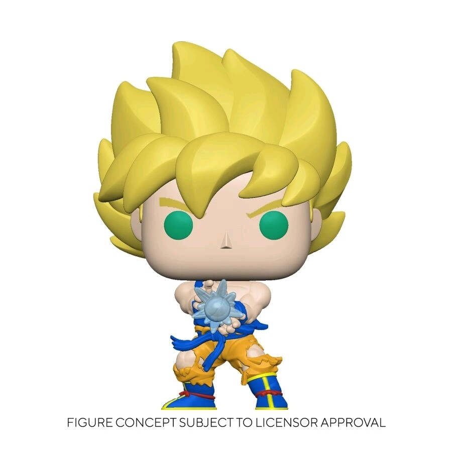 Pre-Order: Dragon Ball Z - Super Saiyan Goku with Kamehameha Wave Glow in the Dark Pop! Vinyl Figure