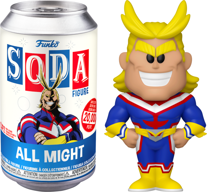 Pre-Order: ​My Hero Academia - All Might Vinyl SODA Figure in Collector Can