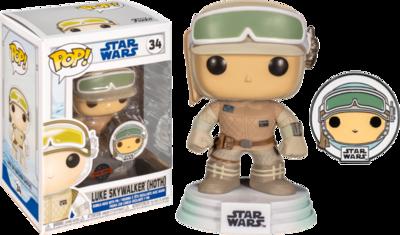 Star Wars: Across The Galaxy – Luke Skywalker Hoth Pop! Vinyl Figure with with Enamel Pin