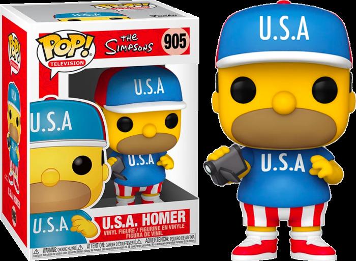 The Simpsons - Homer USA Pop! Vinyl Figure