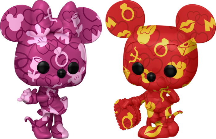 Pre-Order: ​Disney - Mickey Mouse & Minnie Mouse Artist Series Pop! Vinyl Figure with Pop! Protector Bundle (Set of 2)