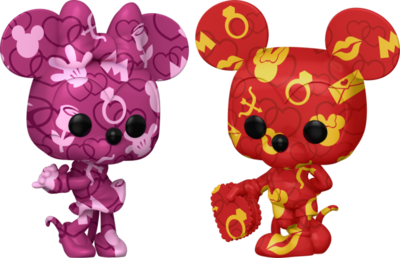 Pre-Order: Disney - Mickey Mouse & Minnie Mouse Artist Series Pop! Vinyl Figure with Pop! Protector Bundle (Set of 2)