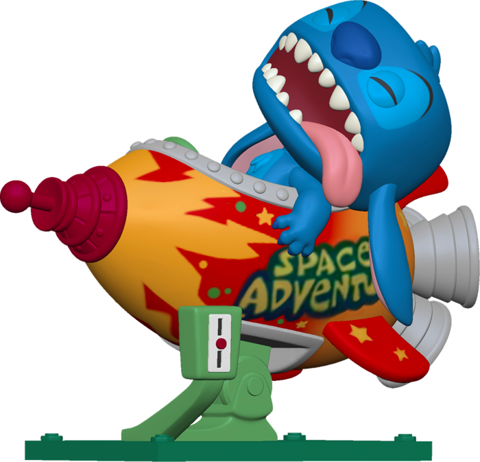 Pre-Order: Lilo & Stitch - Stitch in Space Adventure Rocket Pop! Rides Vinyl Figure
