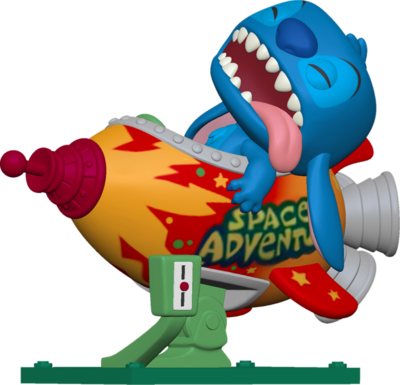Pre-Order: Lilo & Stitch - Stitch in Space Adventure Rocket Pop! Rides Vinyl Figure