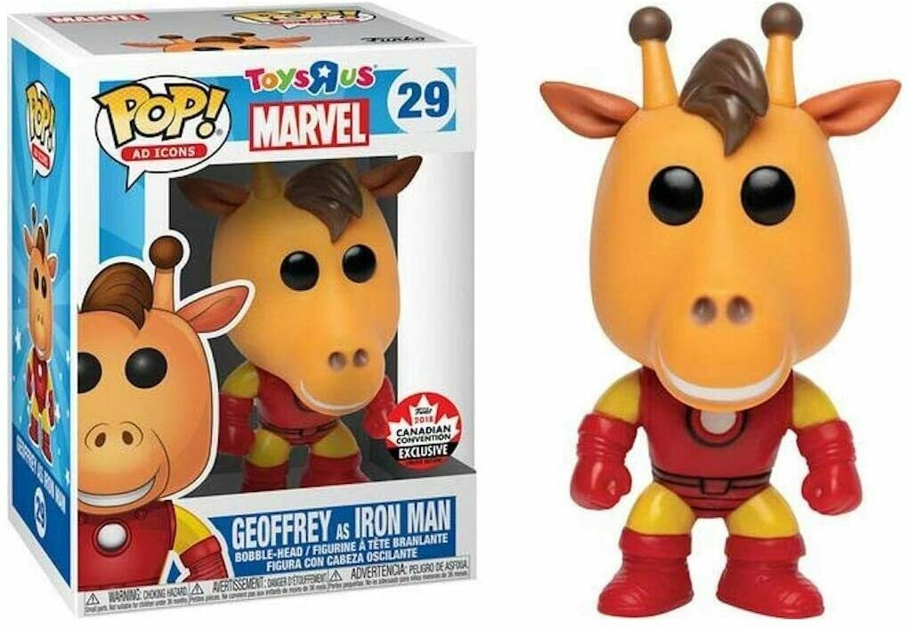 Funko Ad Icons Toys R Us - Geoffrey as Iron ManPop! Vinyl Figure  (Canadian Convention Exclusive)