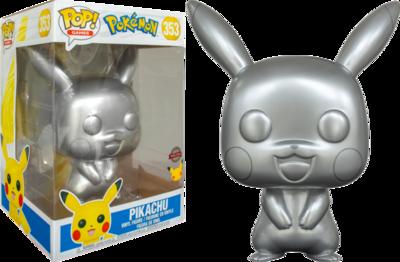 Pokemon - Pikachu Silver Metallic 25th Anniversary 10