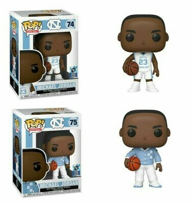 FUNKO POP! Vinyl-  Basketball: UNC - Michael Jordan (Warm ups) & (Away Jersey ) Bundle (Set of 2)