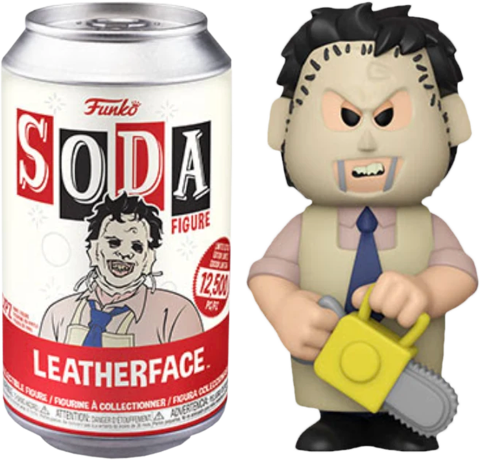 The Texas Chainsaw Massacre - Leatherface Vinyl SODA Figure in Collector Can