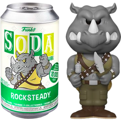 Teenage Mutant Ninja Turtles - Rocksteady Vinyl SODA Figure in Collector Can