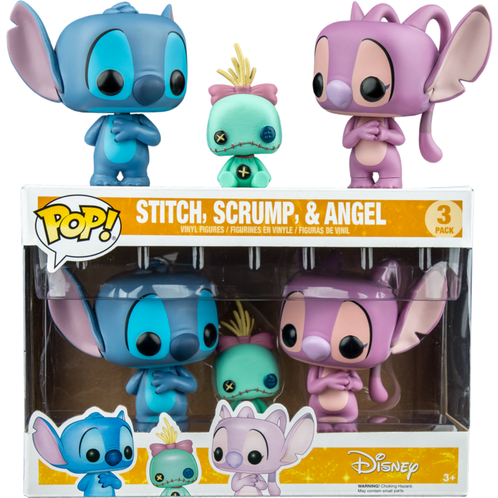 Pre-Order: ​Lilo and Stitch - Stitch, Scrump & Angel Pop! Vinyl Figure 3-Pack
