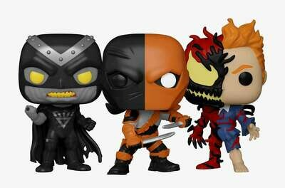 Marvel- Deathstroke, Black Hand, and Carnage Pop! Vinyl Figure