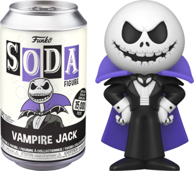 The Nightmare Before Christmas - Vampire Jack Skellington Vinyl SODA Figure in Collector Can