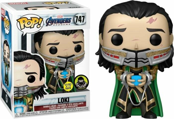 Marvel Avengers Endgame- Loki Holding the Tesseract Glow in the Dark Pop! Vinyl Figure
