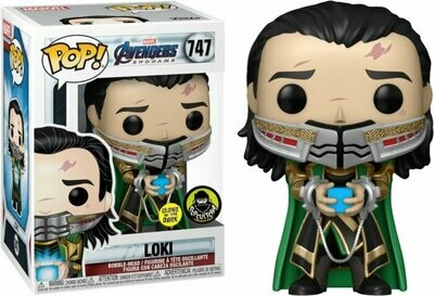 Marvel Avengers Endgame- Loki Holding the Tesseract Glow in the Dark Pop! Vinyl Figure