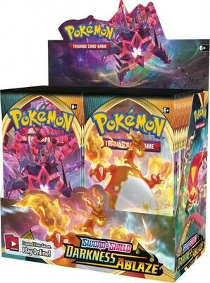 POKÉMON TCG Sword and Shield- Darkness Ablaze Booster Sealed boxed of 36 Booster