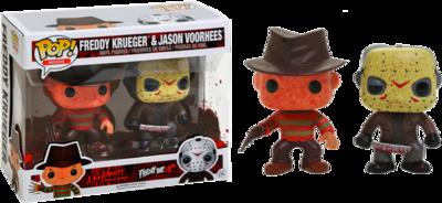 Pre-Order: Freddy vs Jason - Freddy & Jason Battle-Damaged Pop! Vinyl 2-Pack