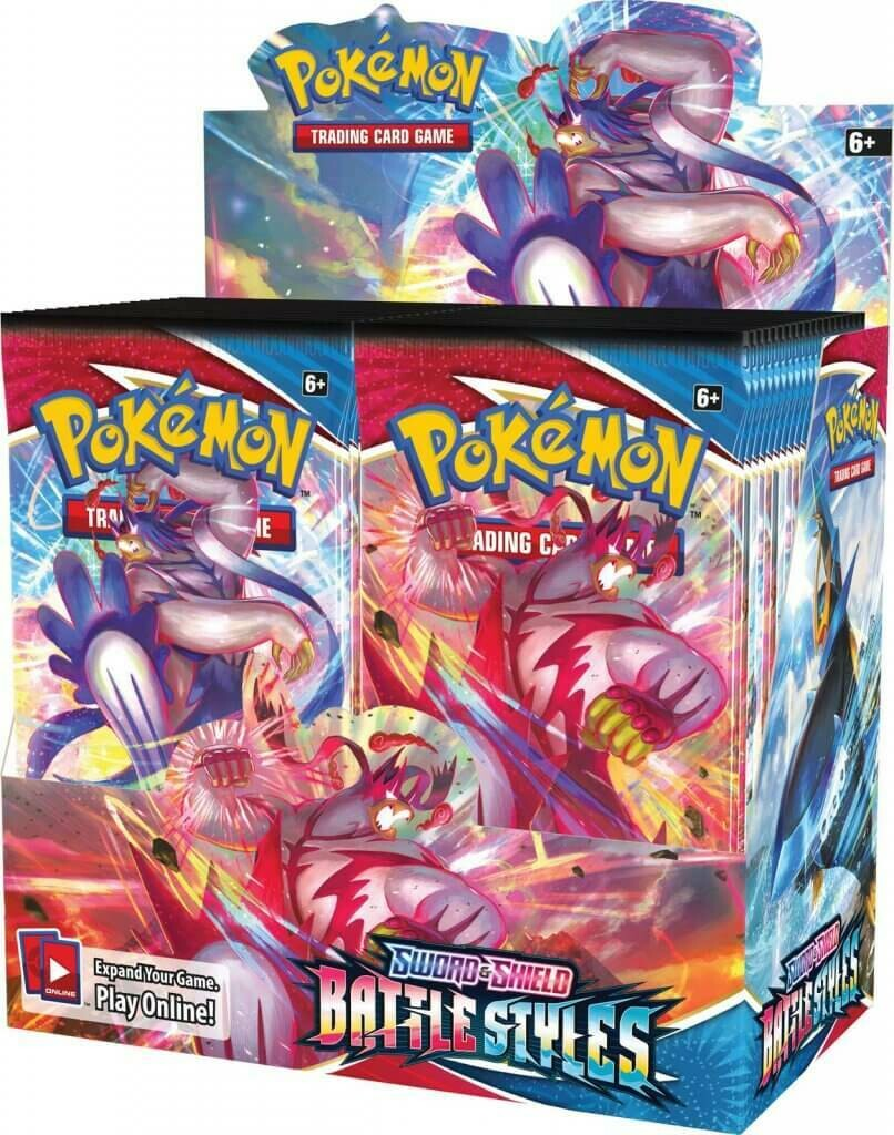 POKÉMON TCG Sword and Shield - Battle Styles Booster Sealed Box of 36 boosters