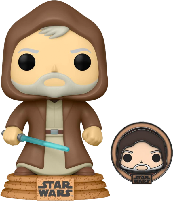 Pre-Order: Star Wars: Across The Galaxy – Obi-Wan Kenobi Tatooine Pop! Vinyl Figure with with Enamel Pin